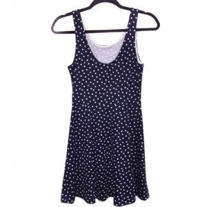 H&M Blue + White Polka Dot Dress 6/M